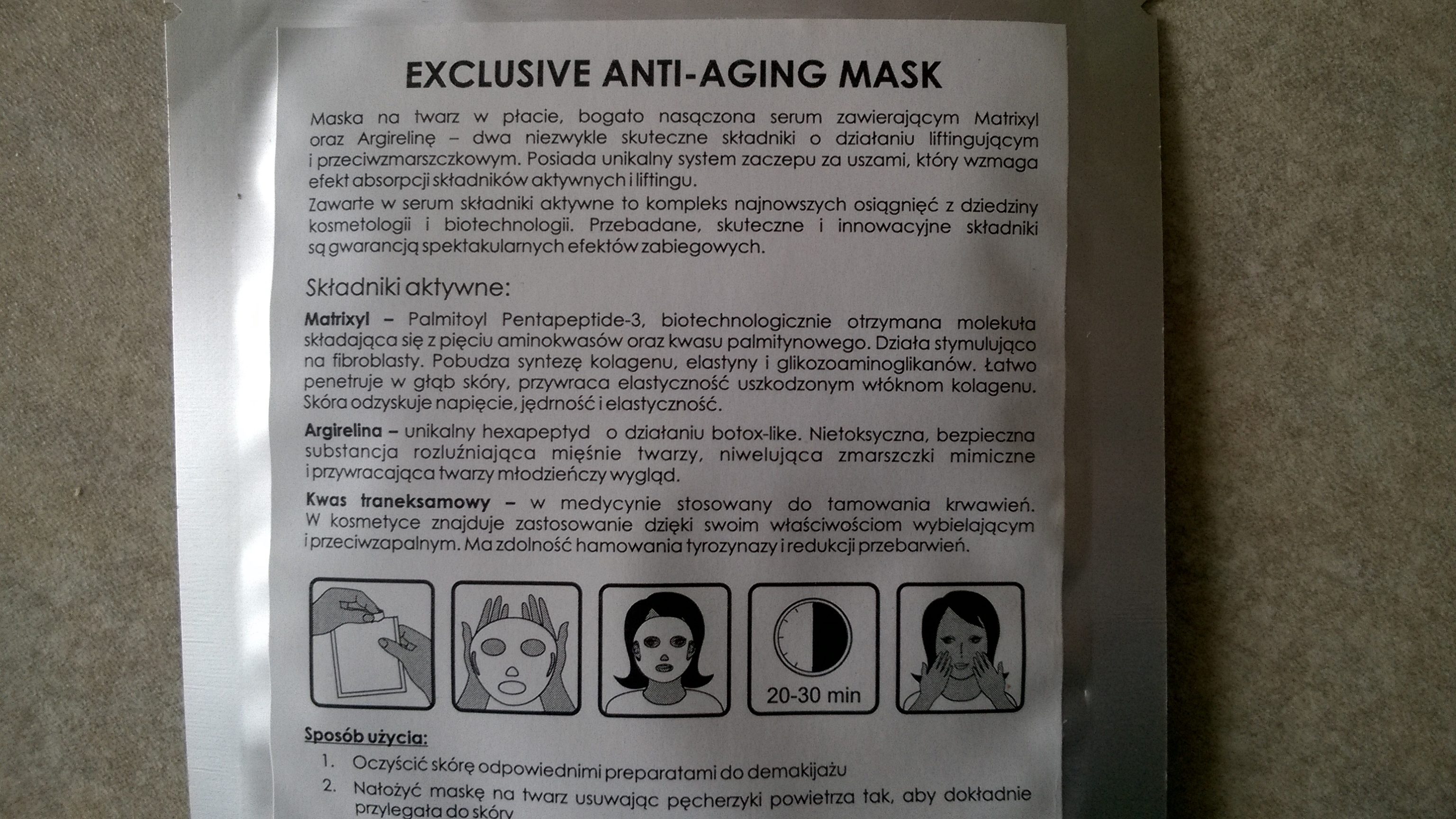 exclusive anti-aging mask